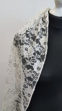 Load image into Gallery viewer, Silver metallic lace veil, Luisa