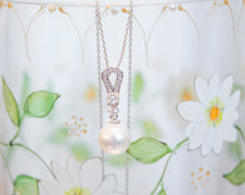 Load image into Gallery viewer, Pearl drop bridal necklace