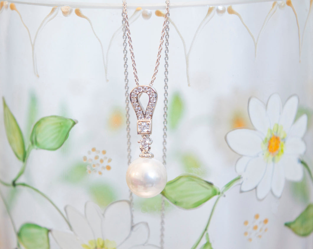 Pearl drop bridal necklace
