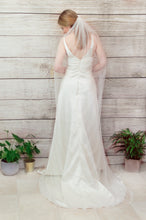 Load image into Gallery viewer, Crystal chapel length wedding veil, Lana