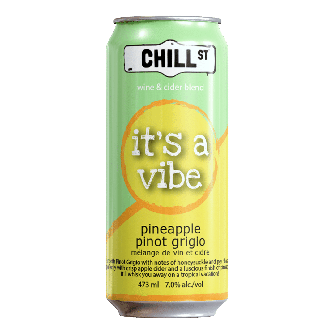 It's A Vibe pineapple pinot grigio wine-cider blend