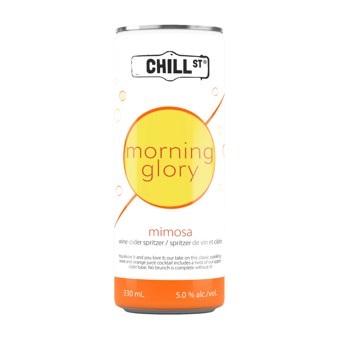 Morning Glory mimosa wine-cider spritzer