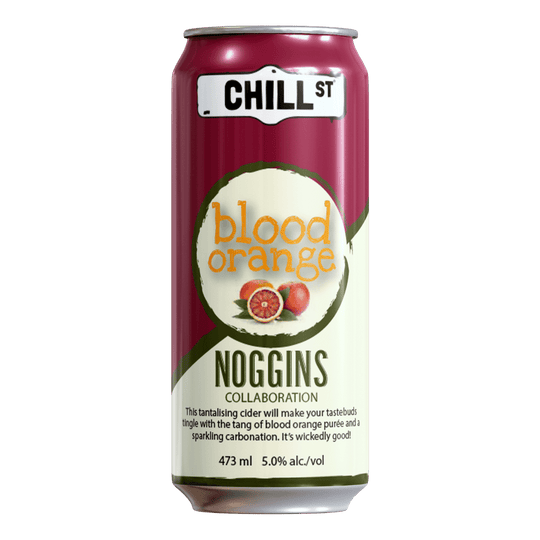 Noggins Collaboration blood orange cider