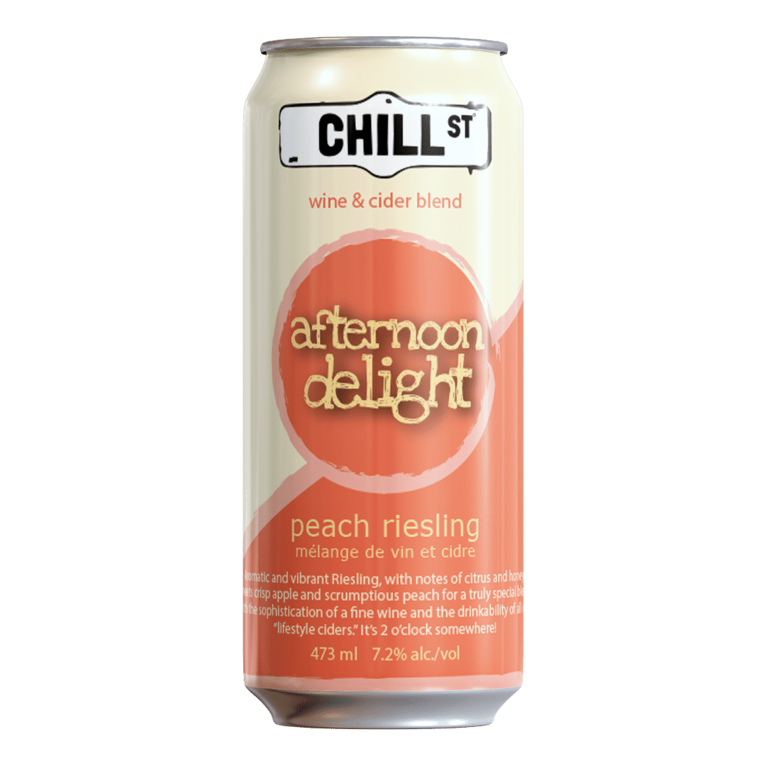 Afternoon Delight peach riesling wine-cider blend