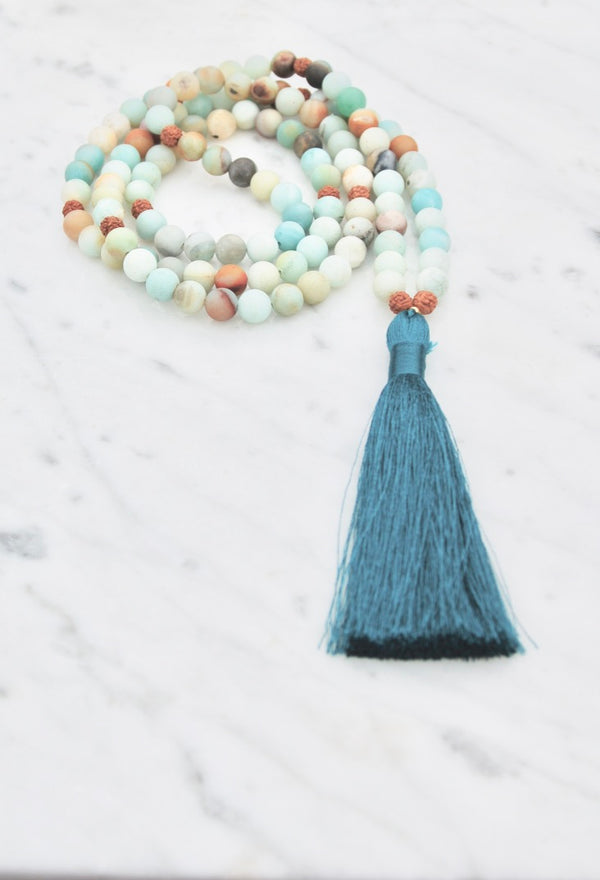 Free to Speak, Heal, and Calm Mala Necklace