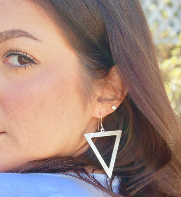 Upside Down Triangle Earrings