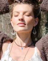 Om Pyrite Beaded Necklace