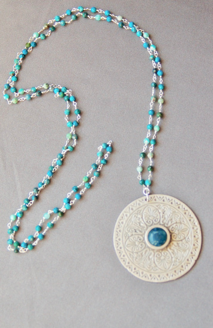 Apatite Mandala Chain Necklace