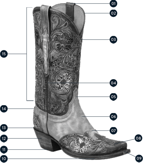 Anatomy for a boot