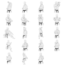"Load image into Gallery viewer, Drawing-Sets from the Book ""The Essence of Karate"" for FREE use - Shotokan-Kata"