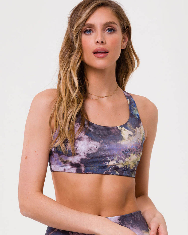 Onzie Chic Bra - Purple Marble