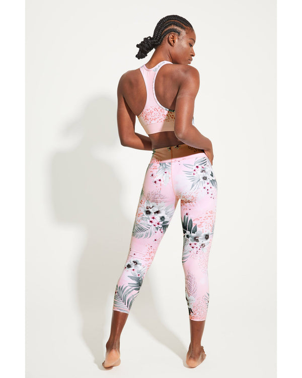 Rear View of Model Wearing 7/8 Balance Keramas Legging
