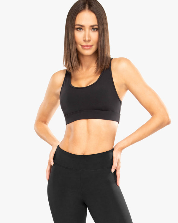 Koral Evolve Blackout Sports Bra - Black