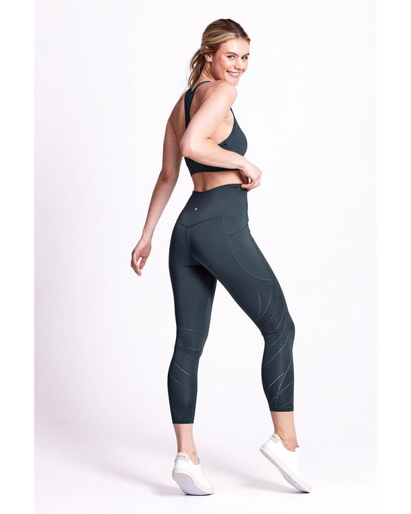 Side View of Model Wearing 7/8 Fluidity Laser Legging