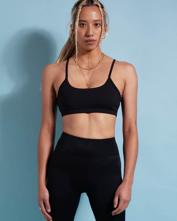 First Base Infinite Sports Crop - Black