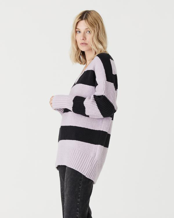 Side View of Model Wearing Ava Sweater