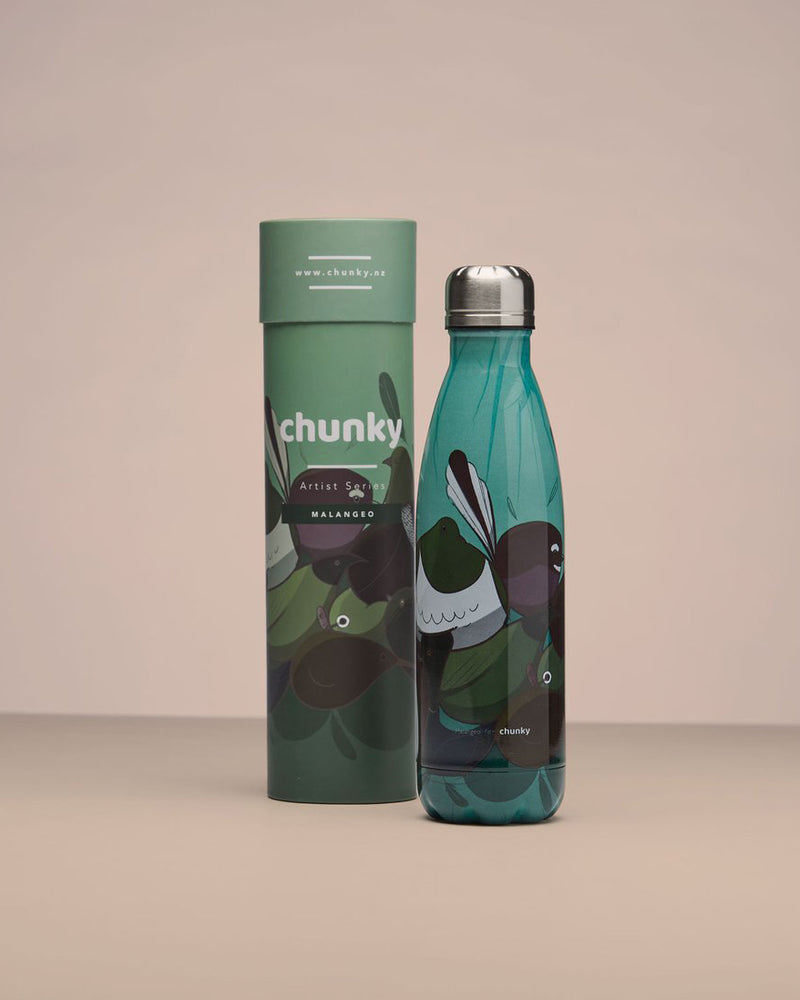 Chunky Insulated Drink Bottle - Birds of NZ