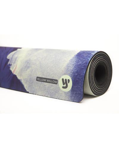 Yellow Willow Yoga Mat - Moroccan Feather