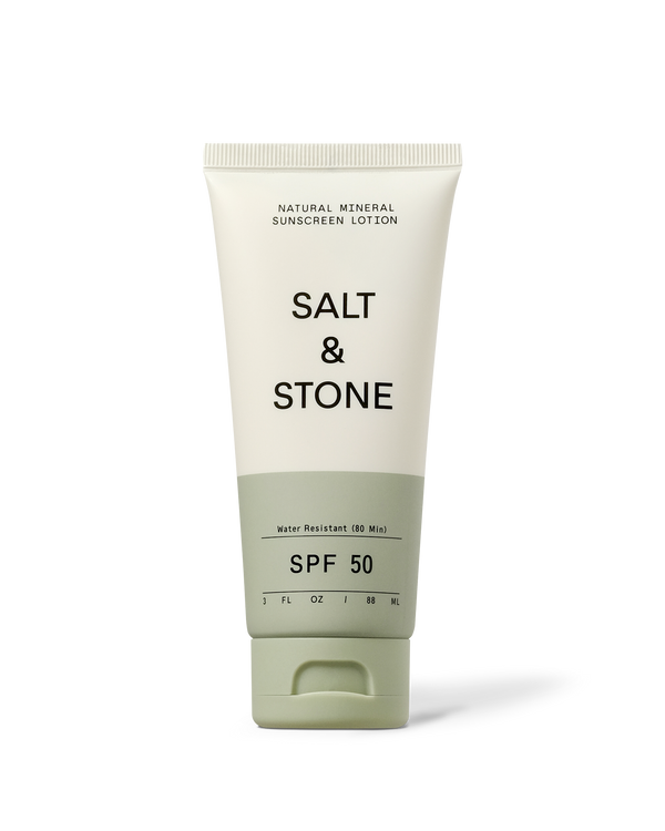 Front view of SPF50 natural mineral sunscreen