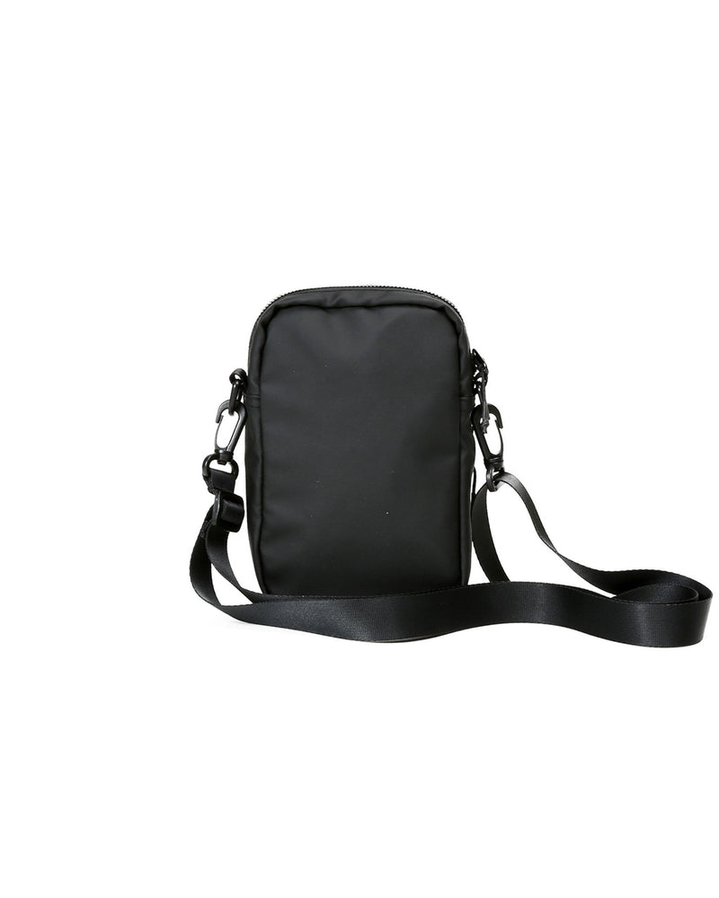 Rear view of matte black core crossbody bag