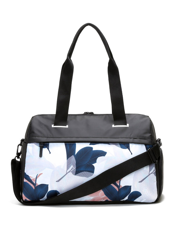 Rear view of guava trainer duffel bag
