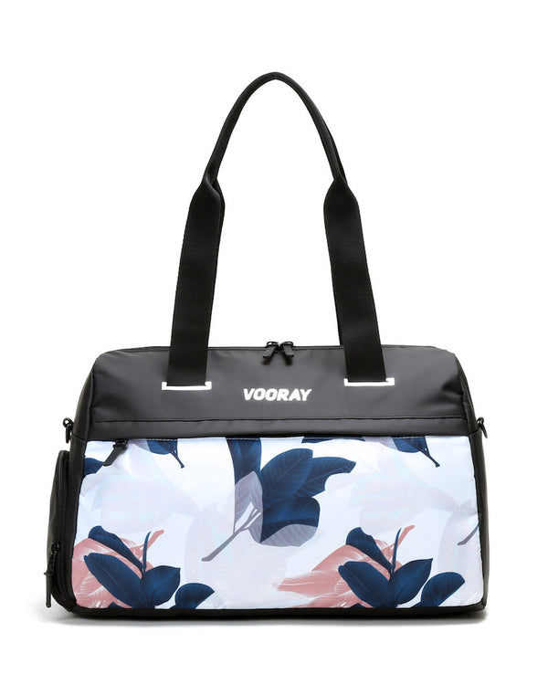 Front view of guava trainer duffel bag