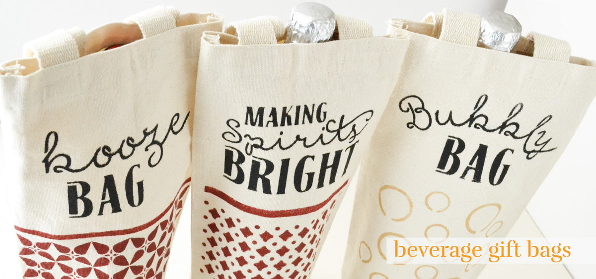 beverage gift bags for gifting bottles of wine or spirits