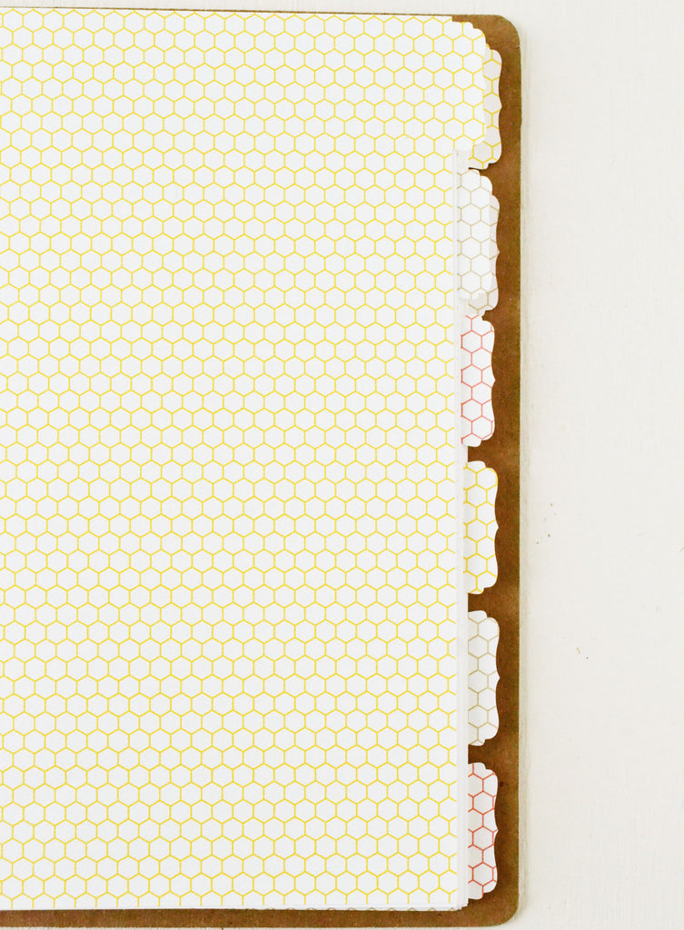Recipe Binder Honeycomb Tabs and Cards