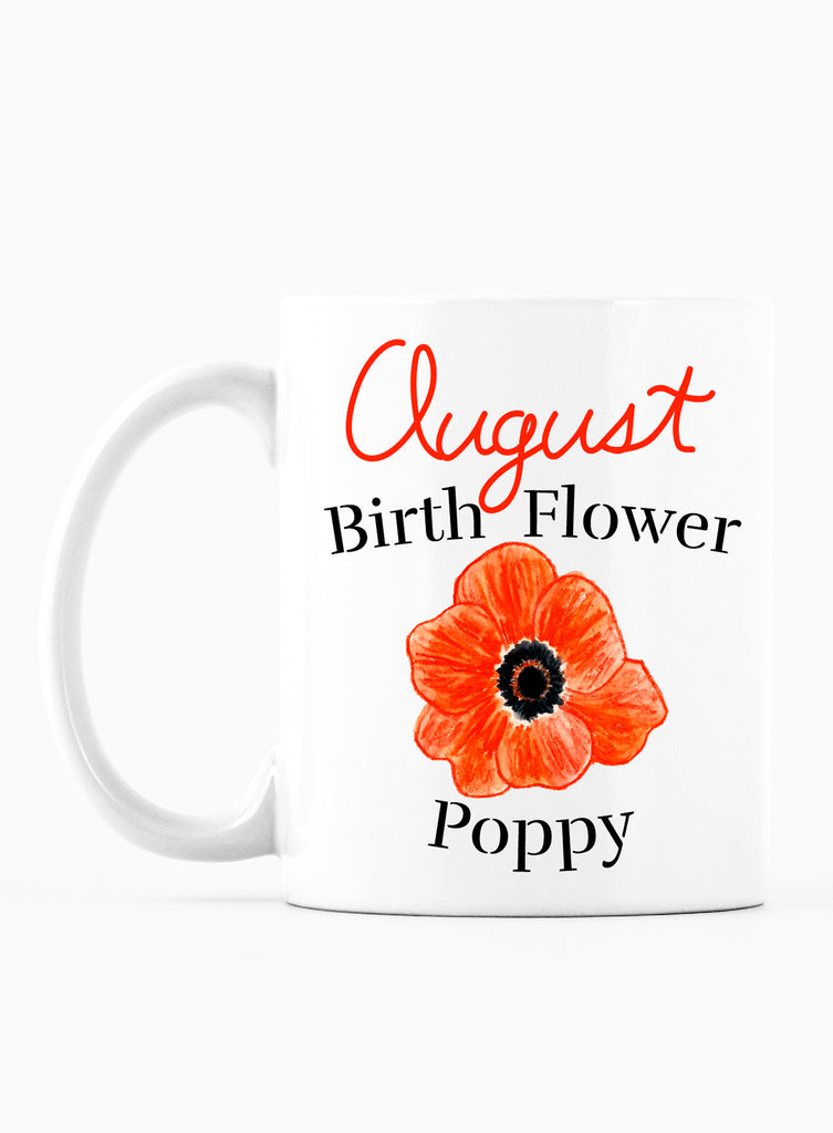 August Birth Flower Mug