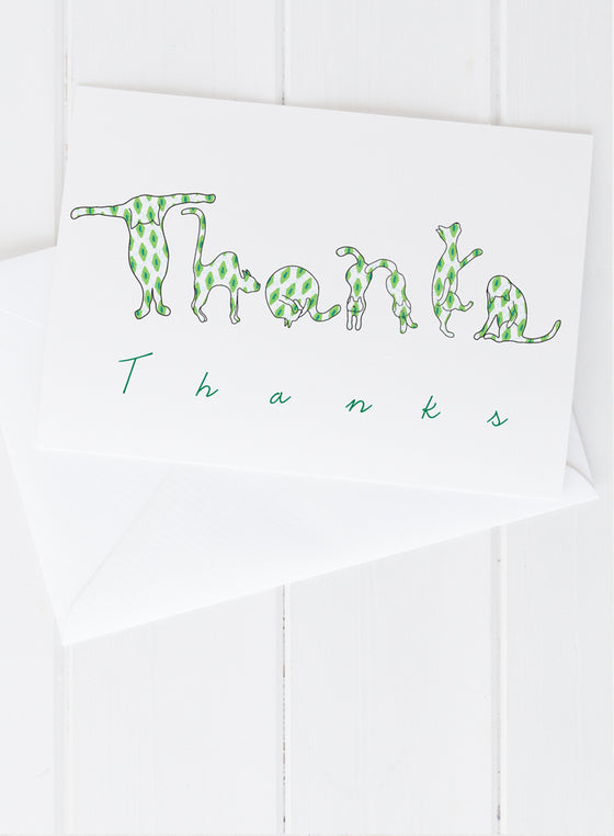 Cat Letters Thank You Greeting Card