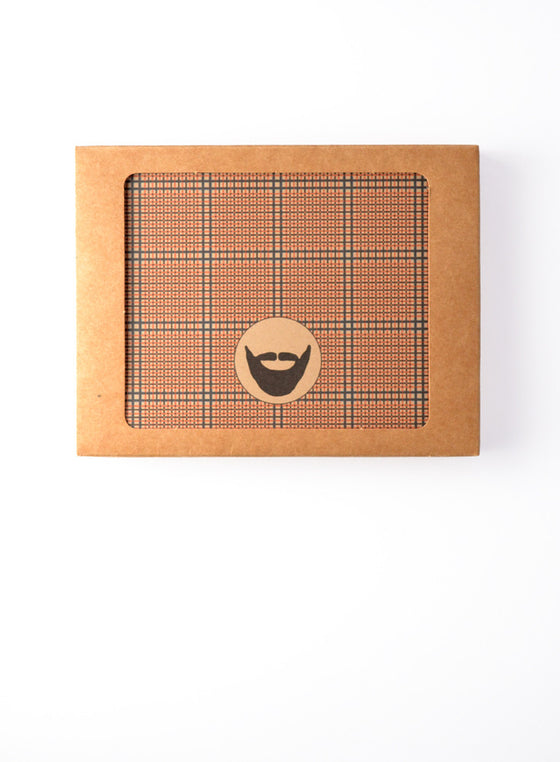 Tweed Pattern with Beard Icon Boxed Notes