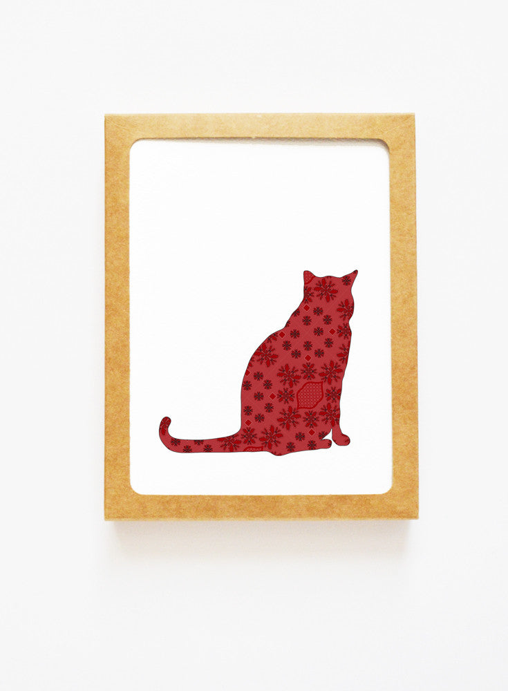 Brocade Cat Boxed Notes