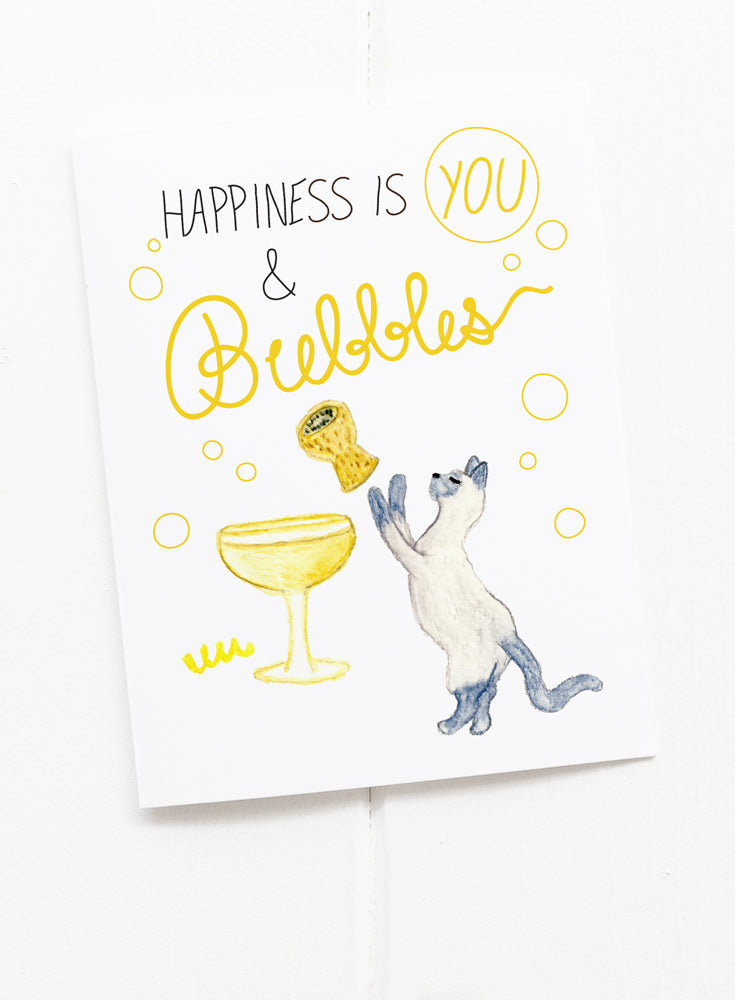 Bubbles and You Happy Greeting Card