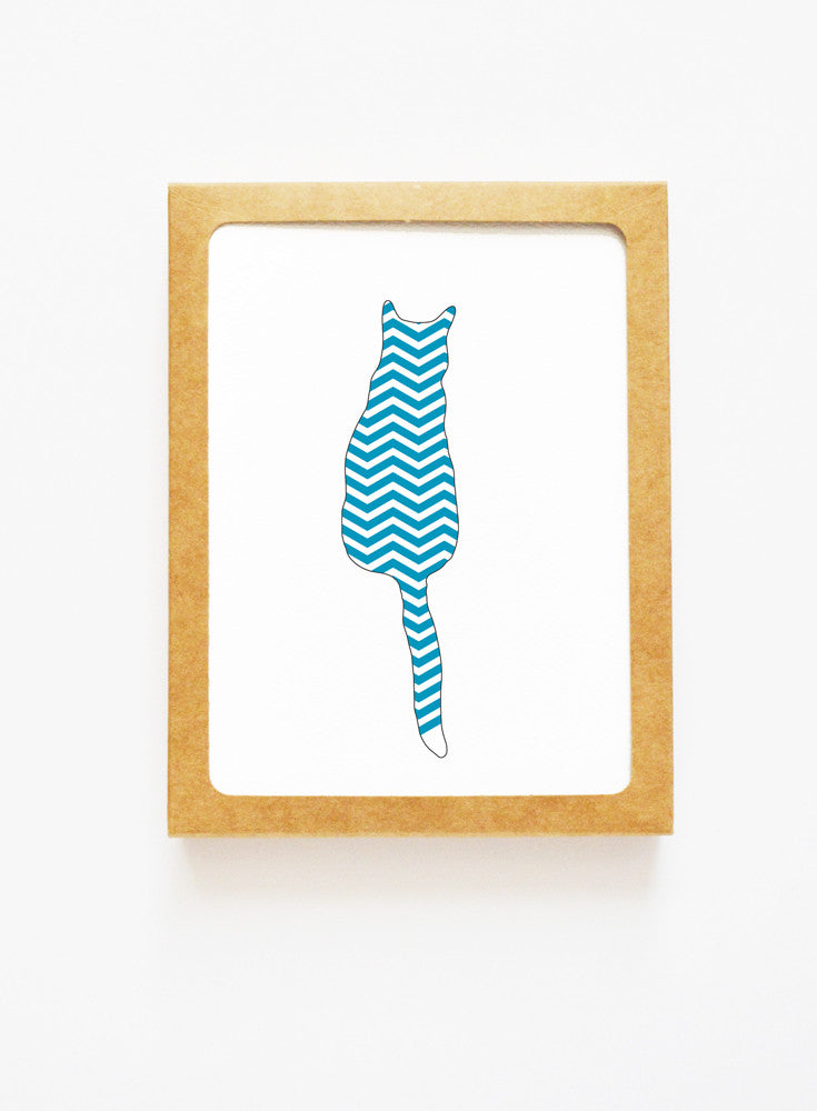 Chevron Cat Boxed Notes