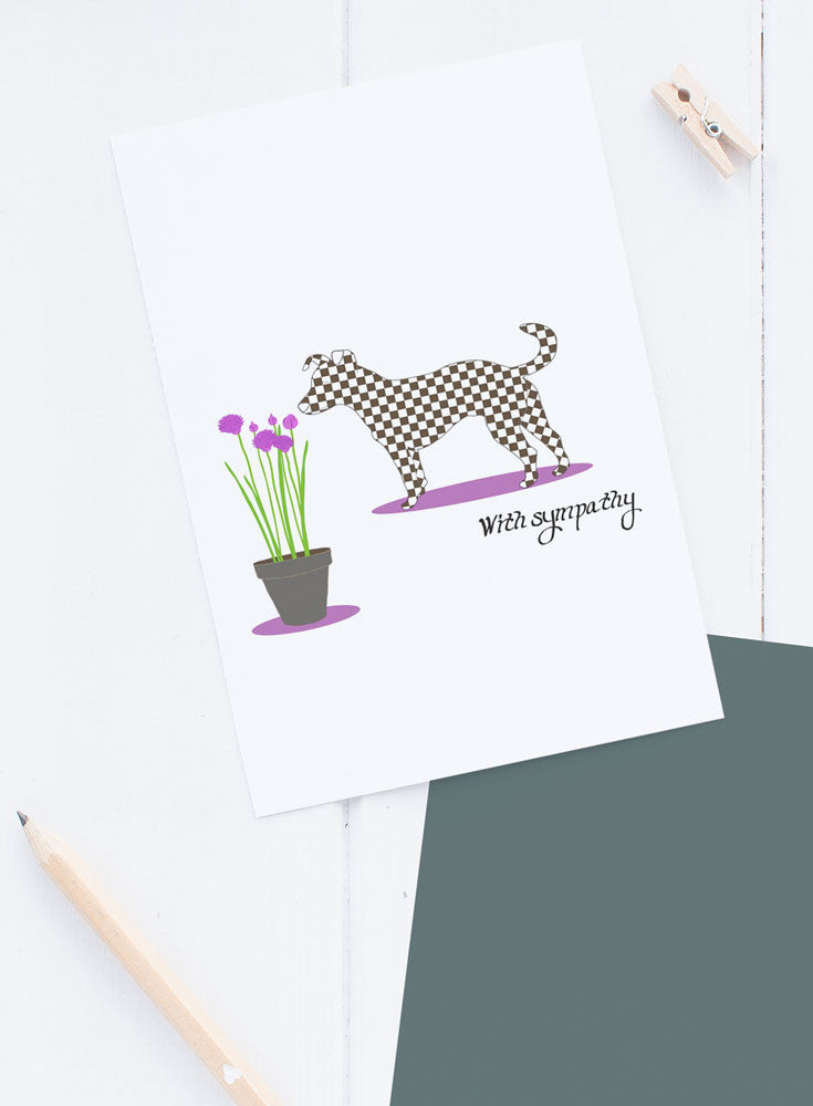 Dog Pet Sympathy Card