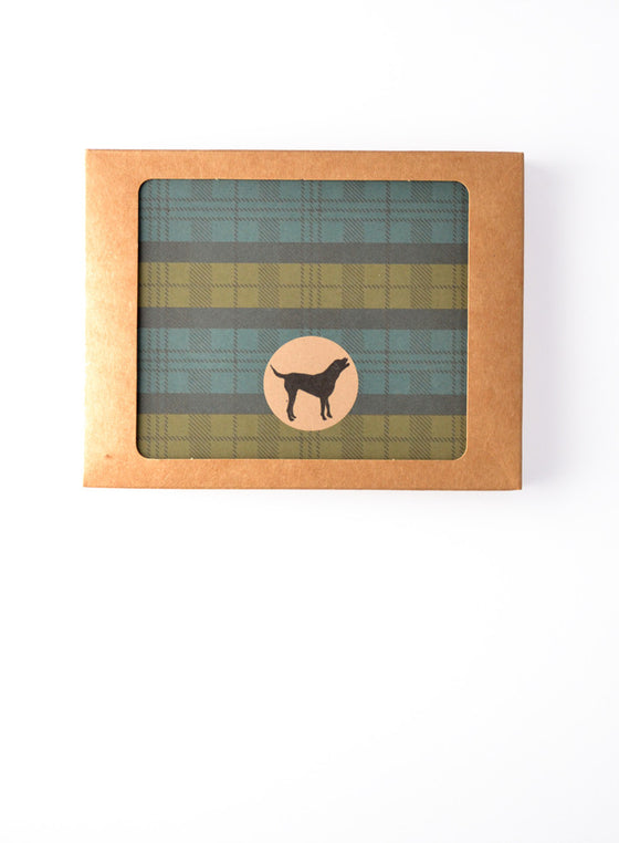 Glen Plaid Pattern Dog Icon Boxed Notes