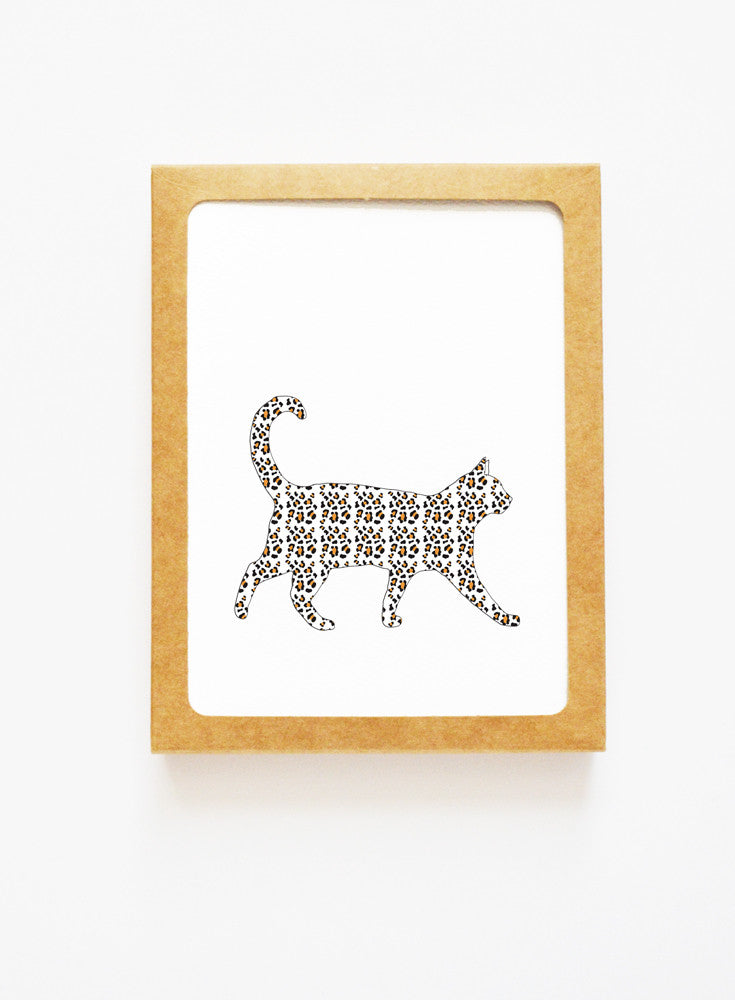 Leopard Cat Boxed Notes