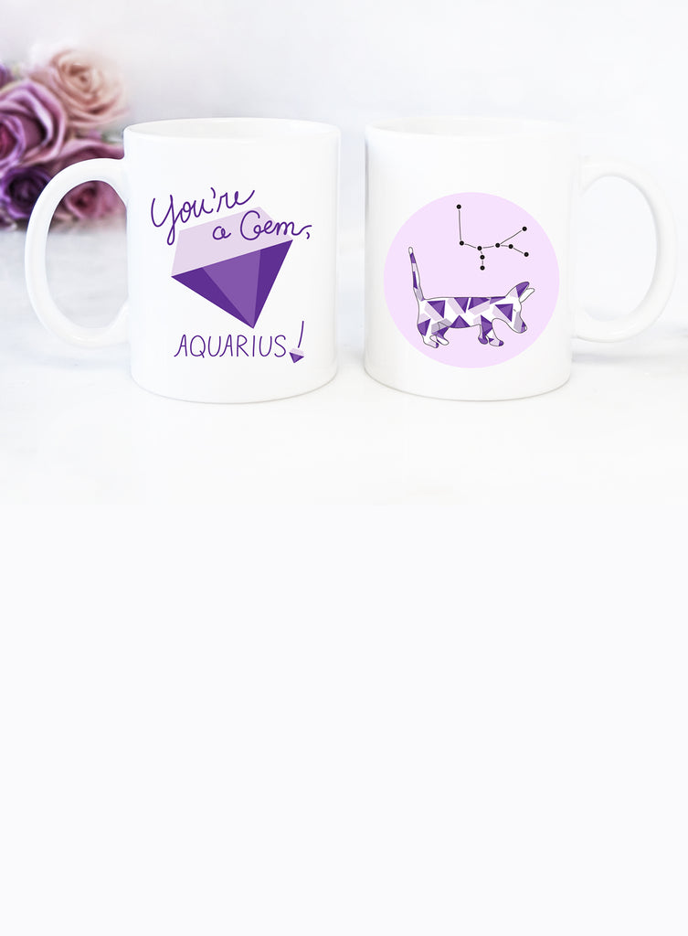 Aquarius Zodiac Dog Mug