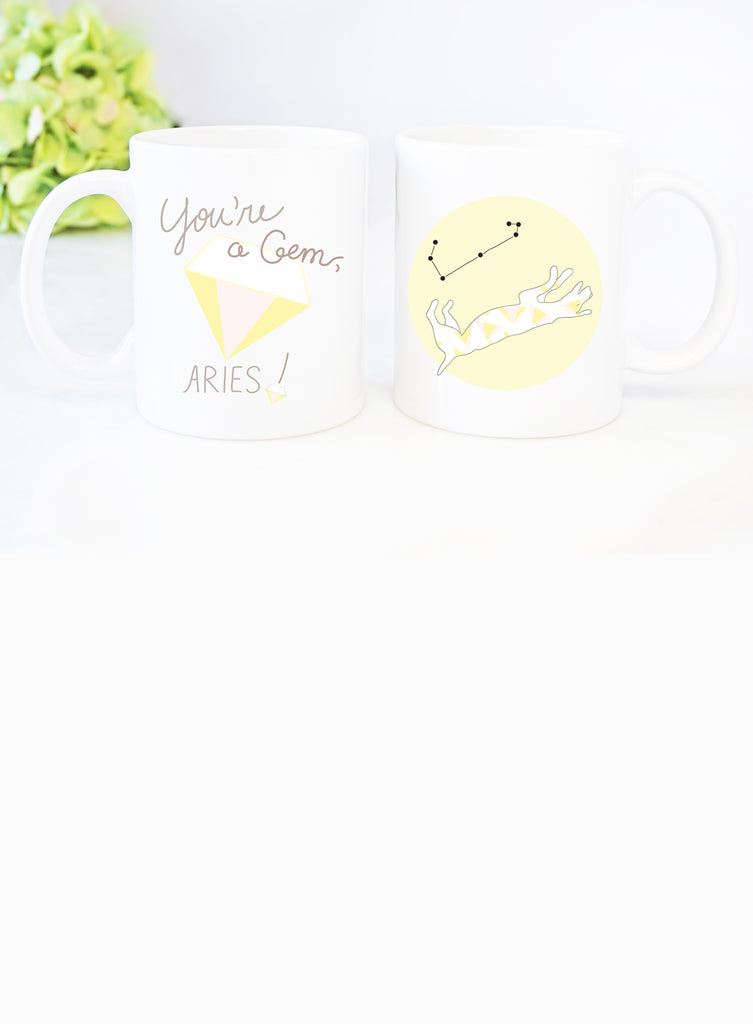 Aries Zodiac Dog Mug