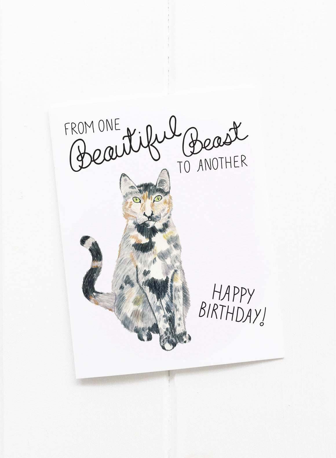 Beautiful Beast Cat Birthday Card