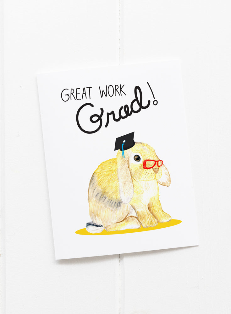 Bunny Graduation Greeting Card