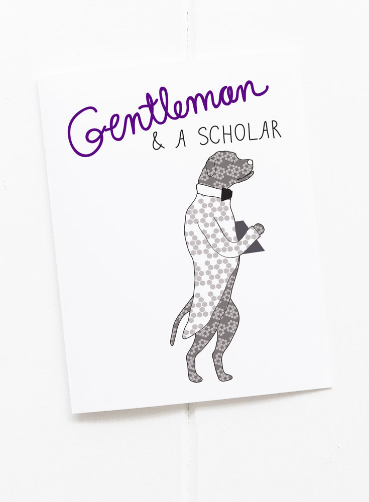 Gentleman and a Scholar Greeting Card