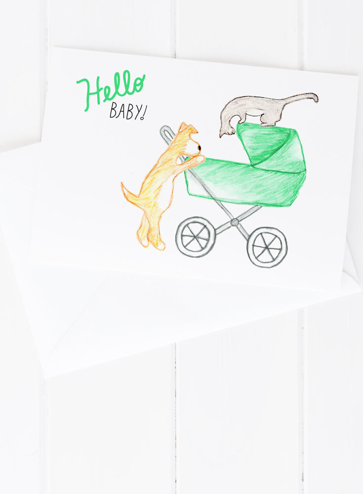 Hello Baby Greeting Card