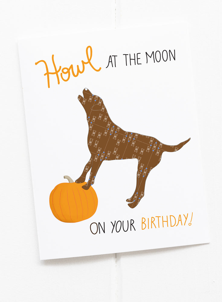 Howl at the Moon Birthday Greeting Card