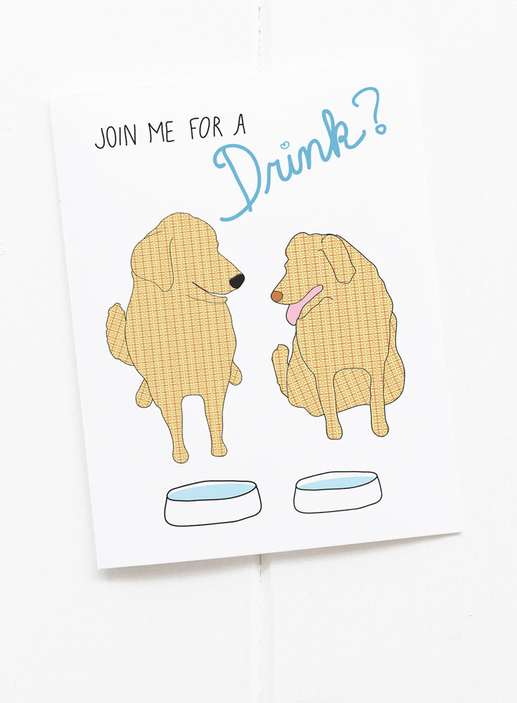 Join Me for a Drink Greeting Card