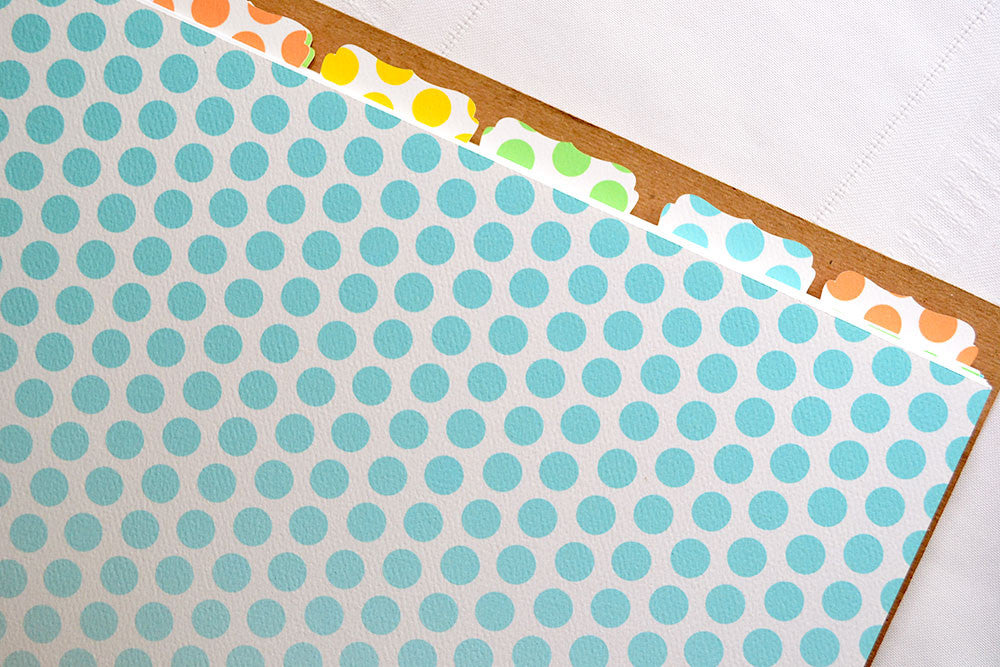 Recipe Binder Tabs - Additional Tabs Sets for your Recipe Binder in Ombre Dots Design