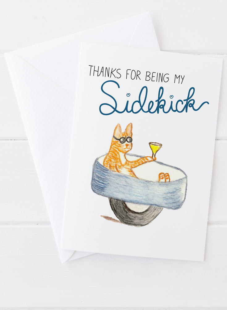 Thanks for Being My Sidekick Greeting Card