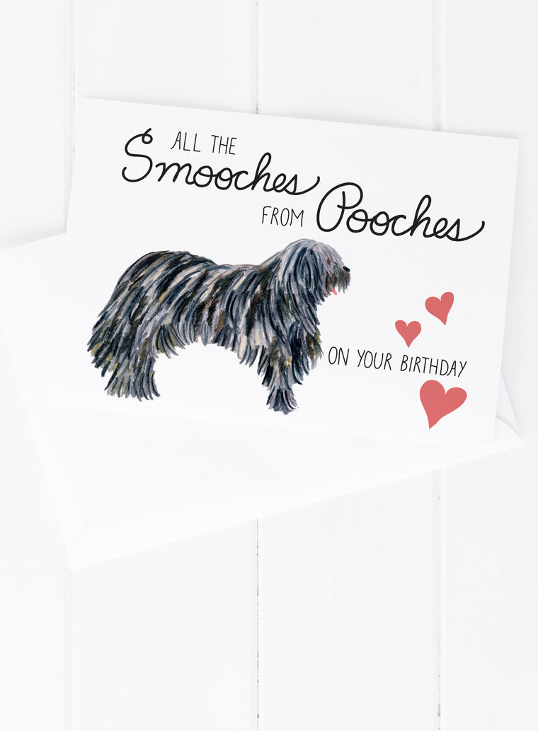 Smooches from Pooches Birthday Card