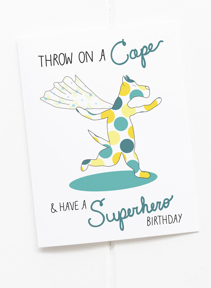 Dog Superhero Birthday Card