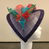 Teardrop fascinator with lilies